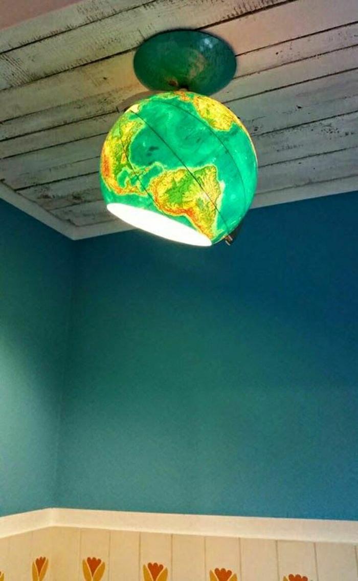 Lampe-Globus-Ball-grün