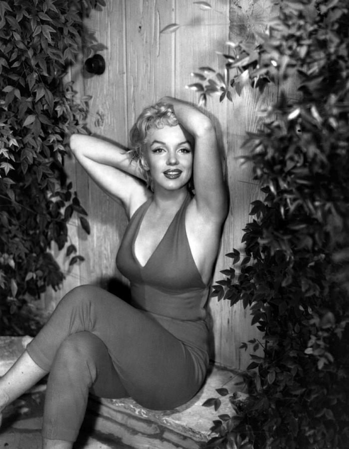 Marilyn-Monroe-retro-Foto-schwarz-weiß