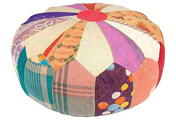 Patchwork-bunte-Kisse-Yoga-Meditation