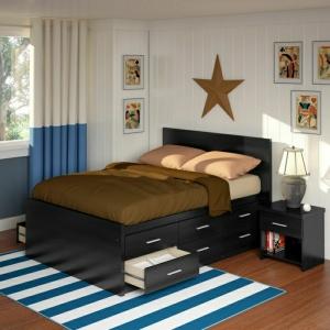 Bett mit Schubladen - praktisch und modern!