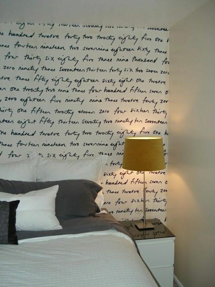 Schlafzimmer-Wanddeko-Idee-Aufschriften
