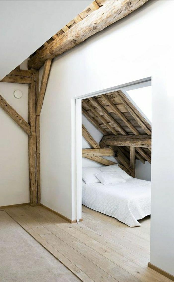 Schlafzimmer-rustikales-Design-Dachschräge