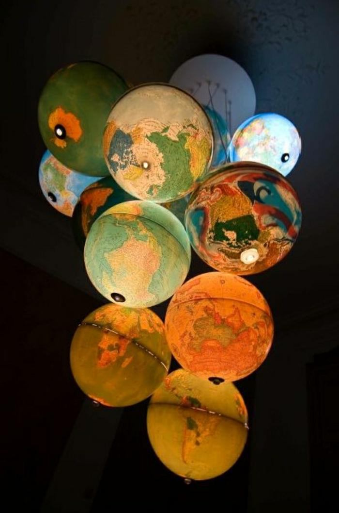Set-leuchtende-Globen-Weltkarte-Lampen