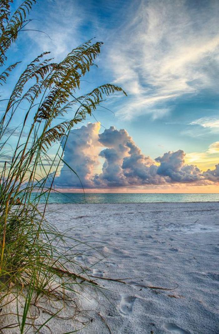 Sonnenuntergang-Strand-Captiva-Insel-Südwesten-Florida