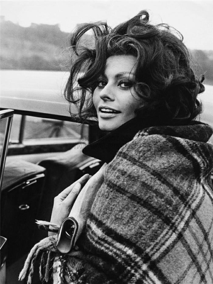 Sophia-Loren-Lächeln-retro-Foto