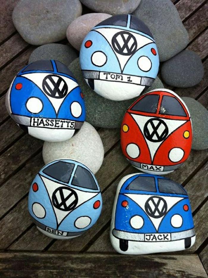 Steine-bemalt-Volkswagen-Van-Zeichnungen