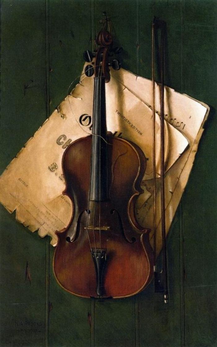 Violine-Notenblätter-aristokratisch-schön-vintage