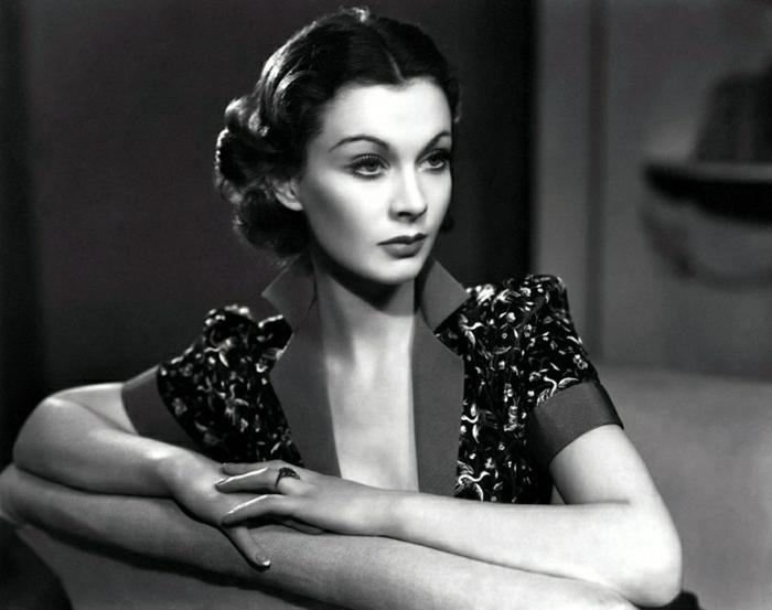 Hollywood-Schauspielerinnen-Vivien-Leigh-Stil-Vintage-Frisur
