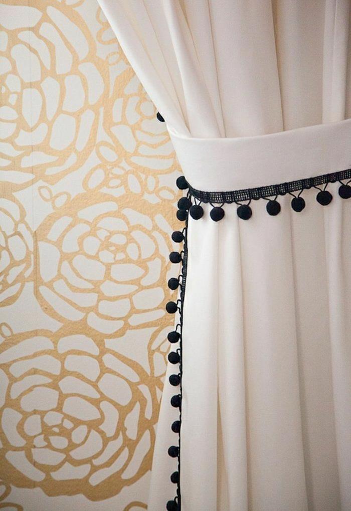 Schenken sie ihrer wohnung moderne gardinen for Goldene wand tapete