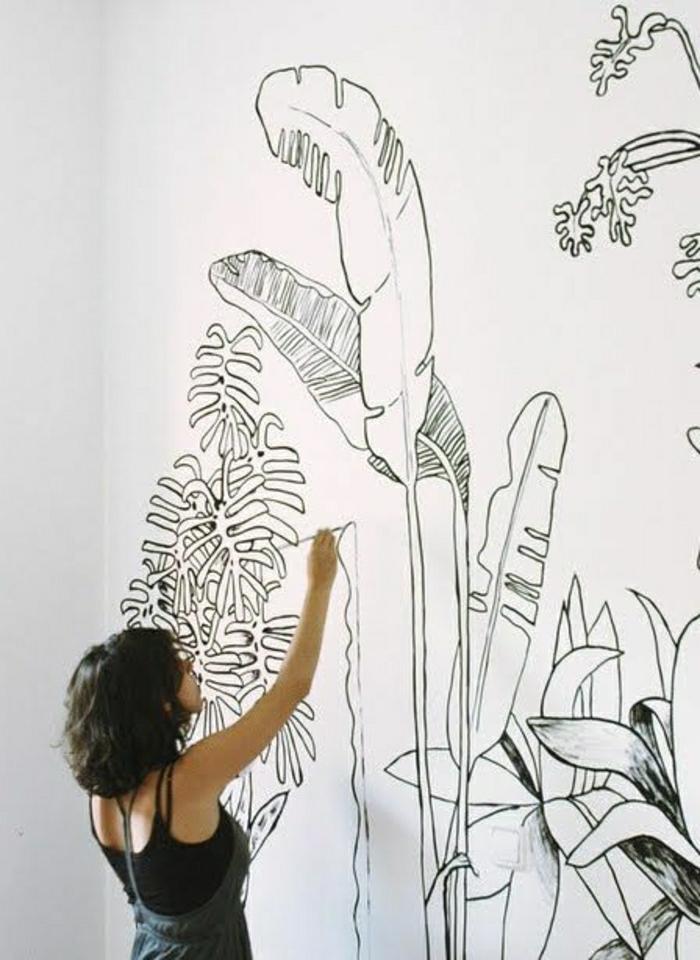 Wanddeko-Idee-botanische-Kunst-Zeichnungen