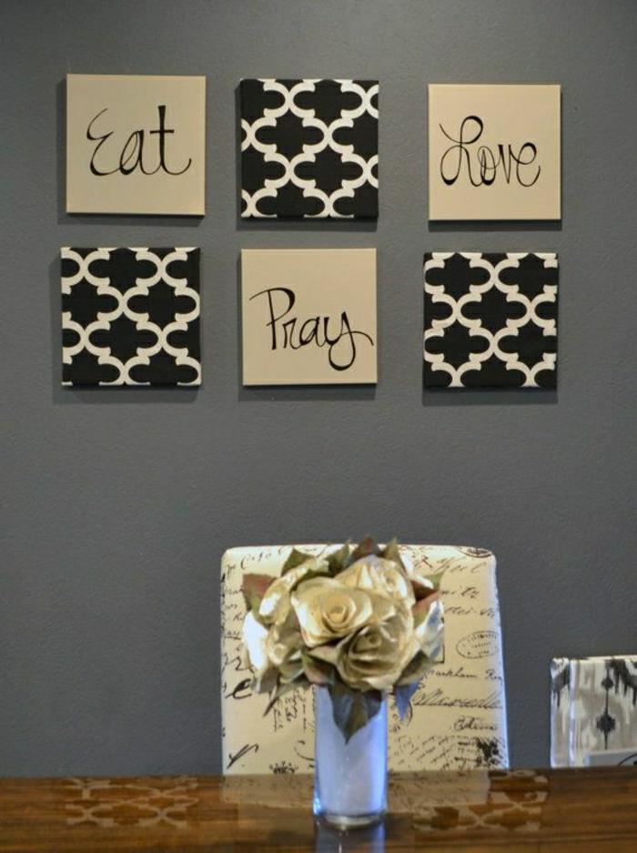 Wanddekoration-Leinwandbilder-Eat-Pray-Love