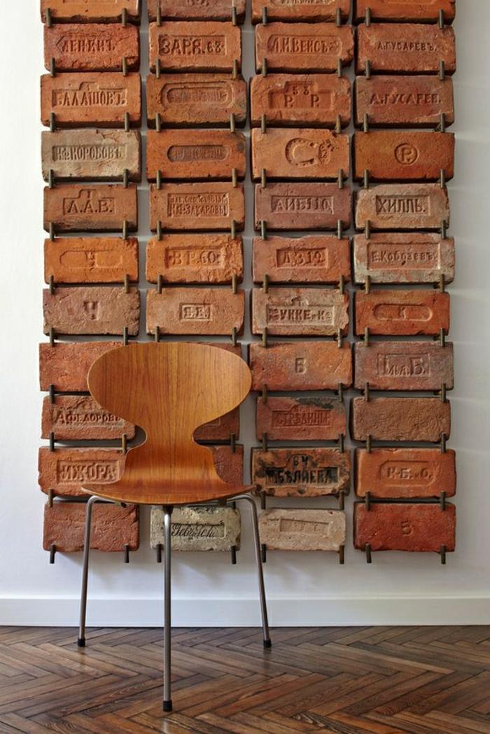 Wanddekoration-vintage-Ziegelsteine