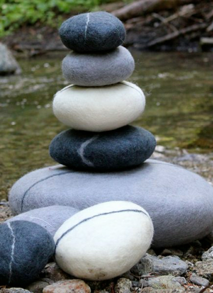 Zen-Meditation-Stein-Form-Yoga-Kissen