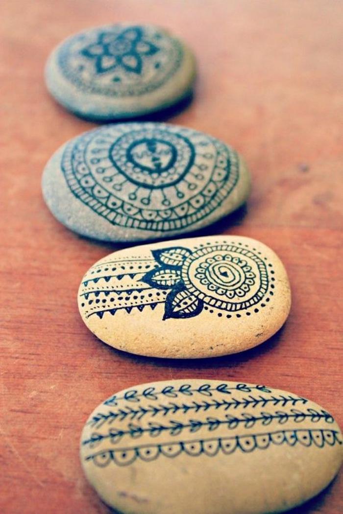 Zen-Steine-bemalt-Mandala-Muster