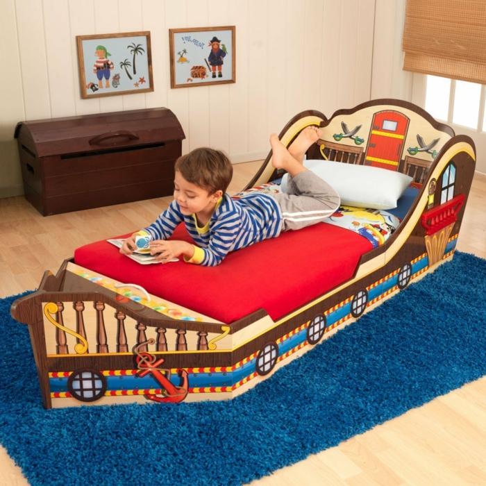 ausgefallene-kinderbetten-schiff-modell