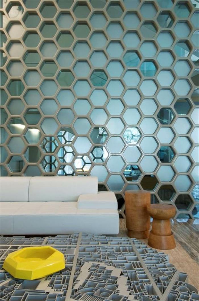 ausgefallene-wandgestaltung-blaues-schönes-interieur