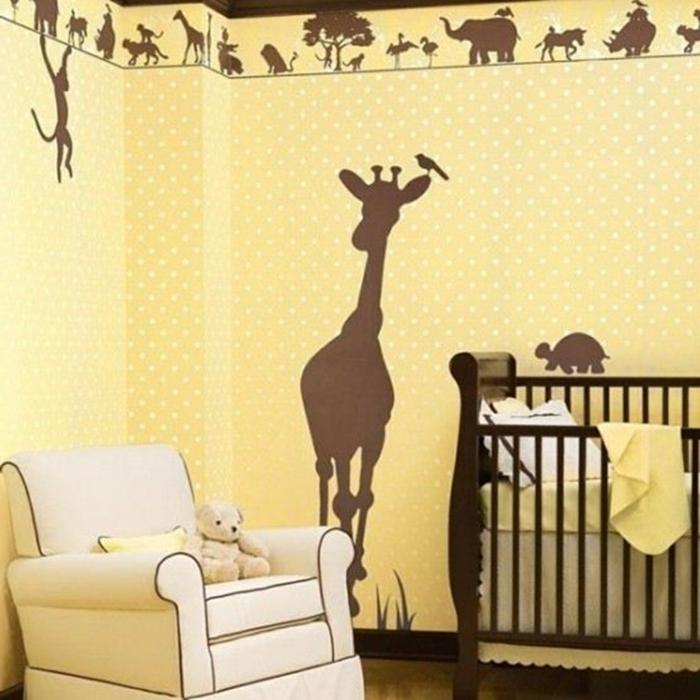 ausgefallene-wandgestaltung-cooles-babyzimmer
