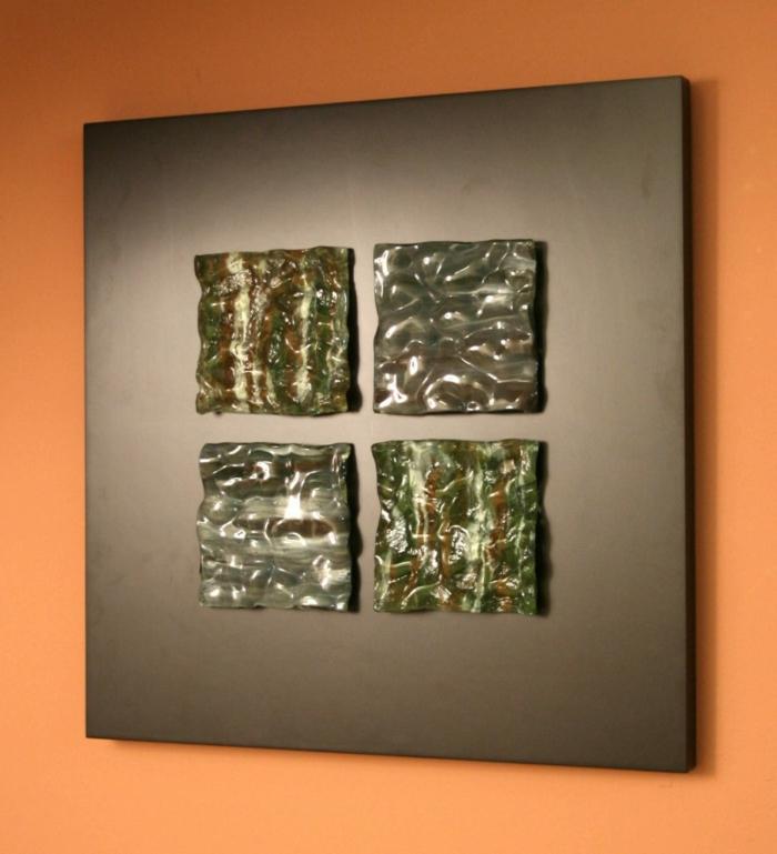 Quadratisches Wohnzimmer Gestalten W U00e4nde U2013 Orange Farbe