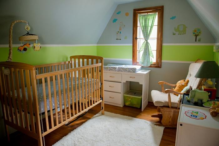 wohnzimmer grün grau:grüne und graue farbe erscheinen sehr passend nebeneinander