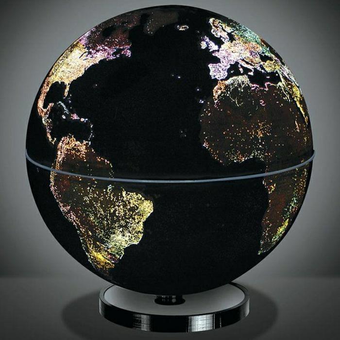 Beleuchteter Globus Das Licht Der Kenntnis