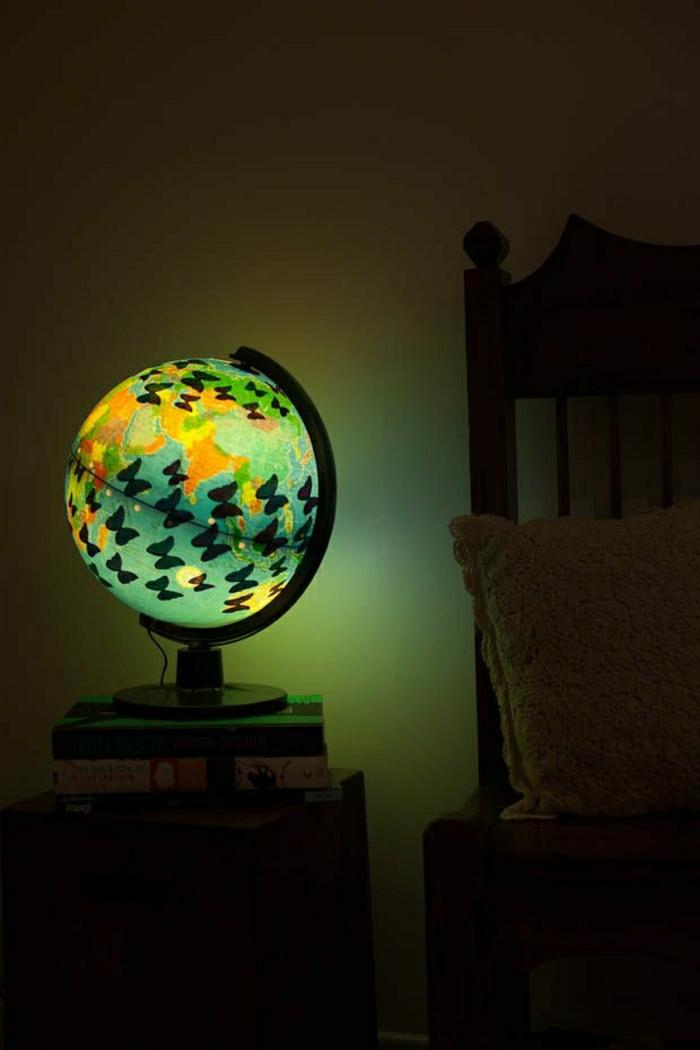beleuchteter-Kinder-Globus-Nachttischlampe-Schmetterlinge