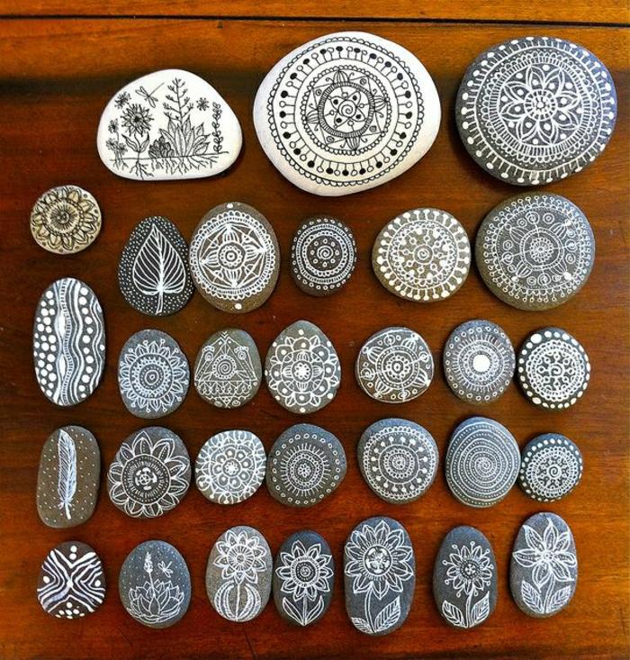 bemalte-Steine-Henna-Mandala-Muster