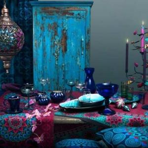 Blaues Glas als schöne Dekoration!