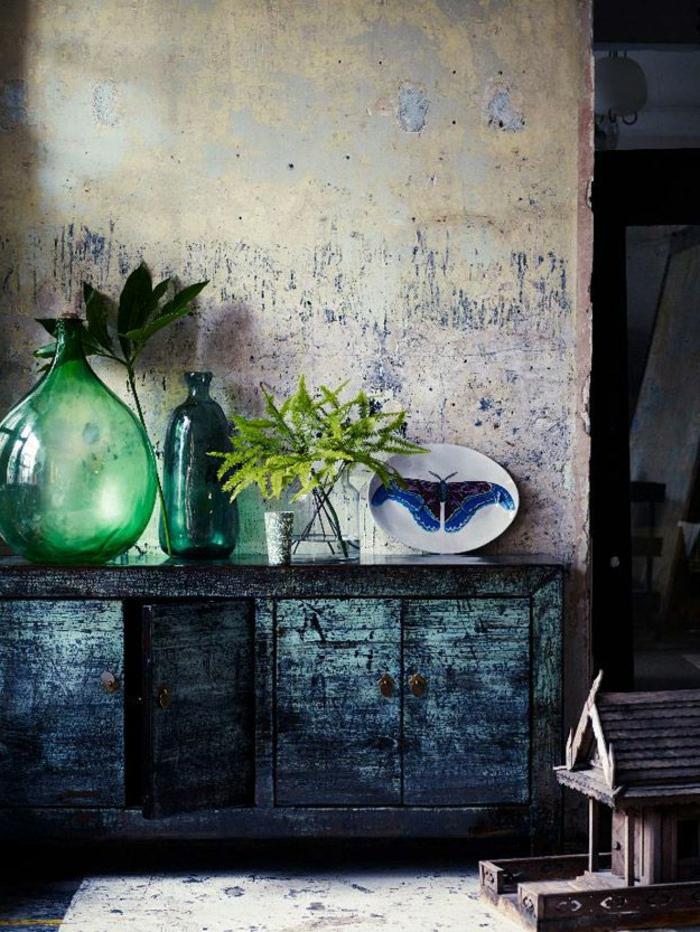 Blaues glas als sch ne dekoration for Mediterrane zimmergestaltung