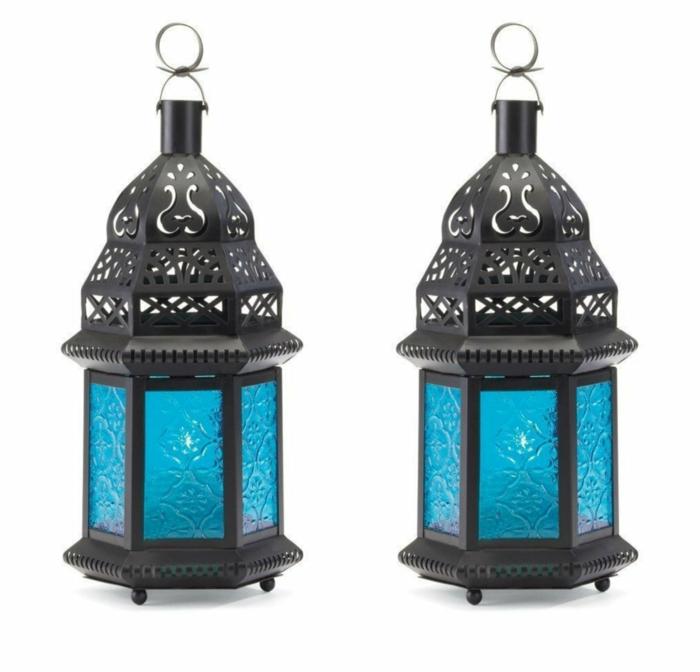 blaues-glas-zwei-vintage-lampen