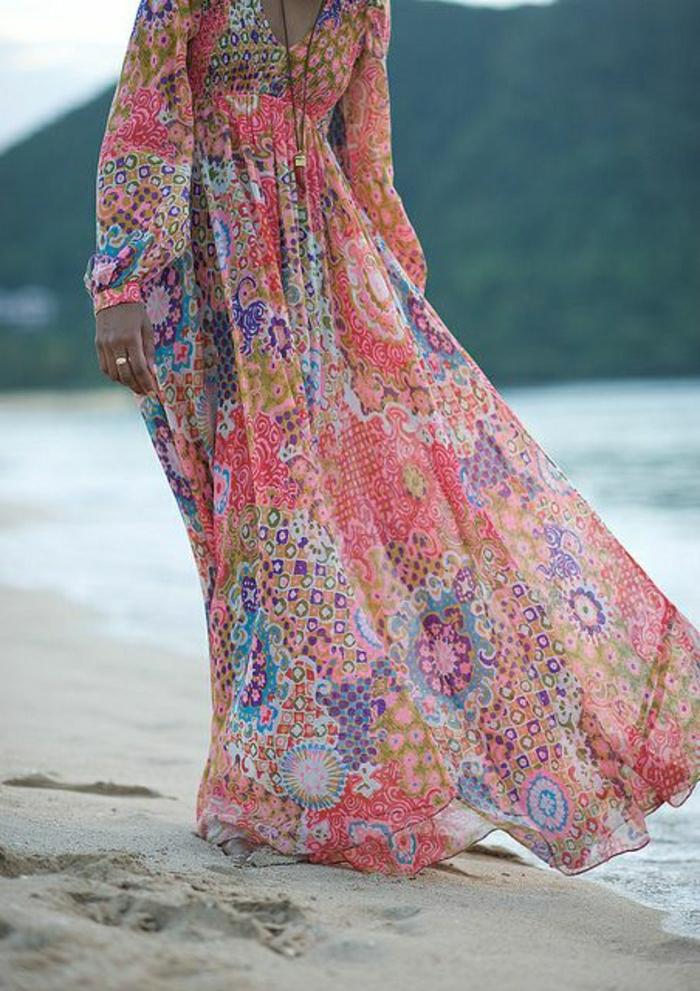 buntes-Boho-Chic-lange-Sommerkleider