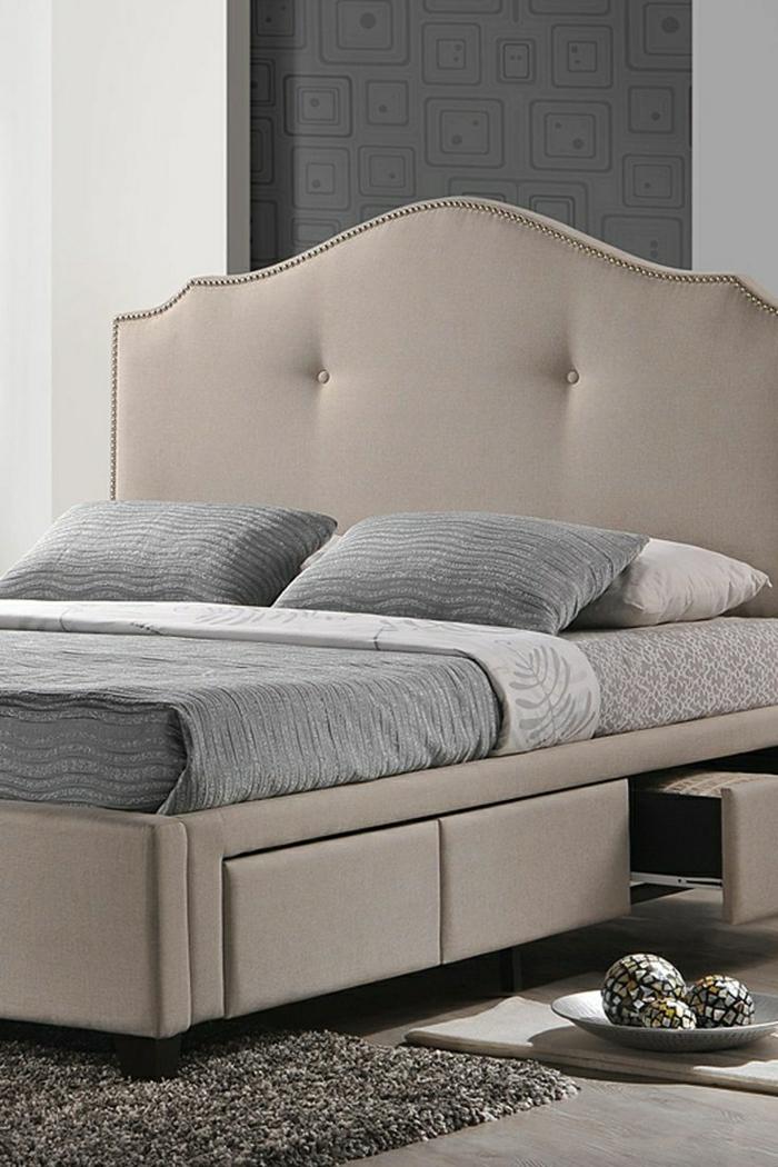 elegantes-Schlafzimmer-Bett-Schubladen-grau-exquisit