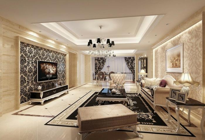 elegantes-wohnzimmer-attraktiv-beleuchtete-decke