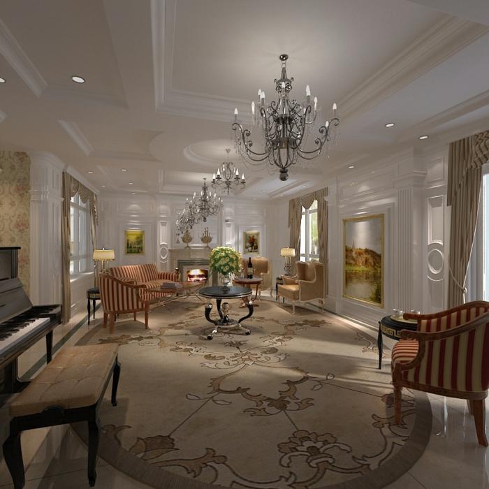 elegantes-wohnzimmer-eleganter-lüster