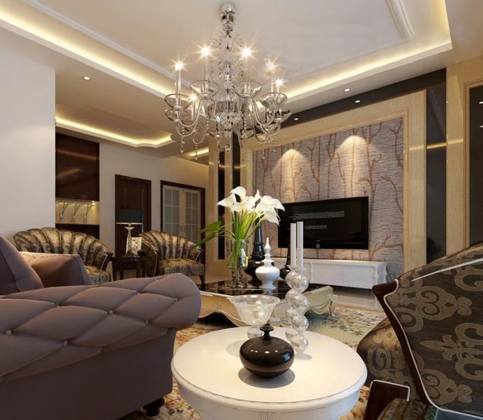 schöne wohnzimmer wände:Gläserne Wände und attraktive Beleuchtung