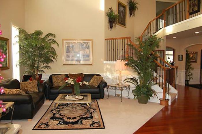 elegantes-wohnzimmer-grüne-pflanzen