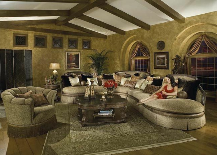 elegantes-wohnzimmer-interessante-zimmerdecke
