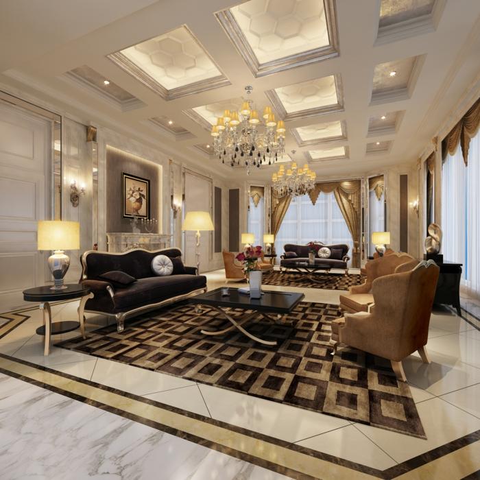 Elegantes Wohnzimmer Luxus Teppich