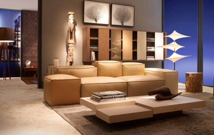 Design : moderne wohnzimmer gestaltung beispiel ...