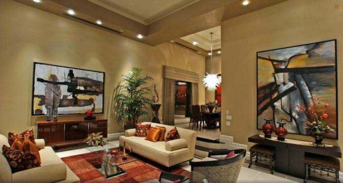 elegantes-wohnzimmer-moderne-deckenleuchten