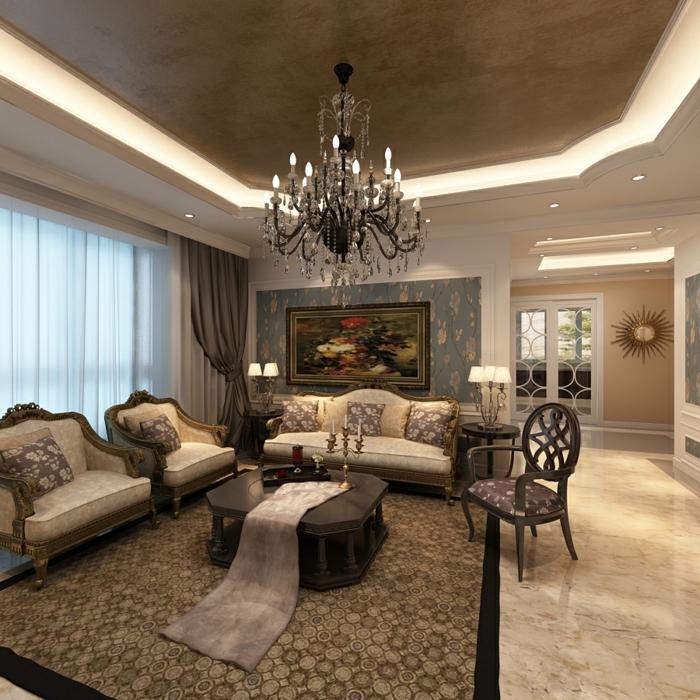 Elegantes wohnzimmer moderne schöne beleuchtung