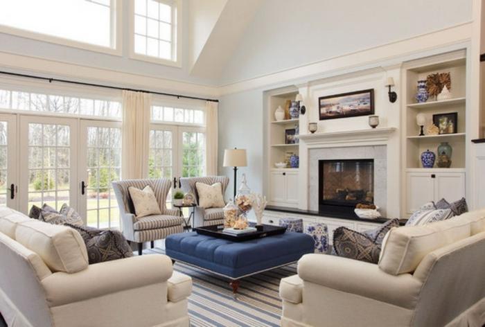Elegantes wohnzimmer modernes weißes interieur