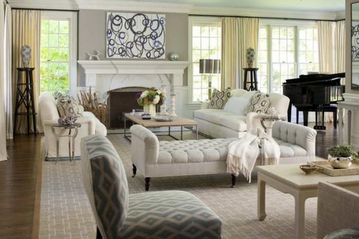 elegantes-wohnzimmer-schöner-weißer-kamin