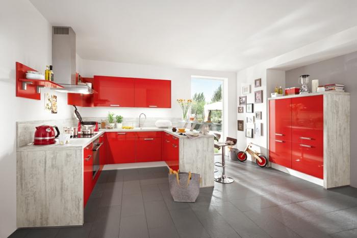 farbe-in-der-küche-rot-und-weiß-zusammenbringen