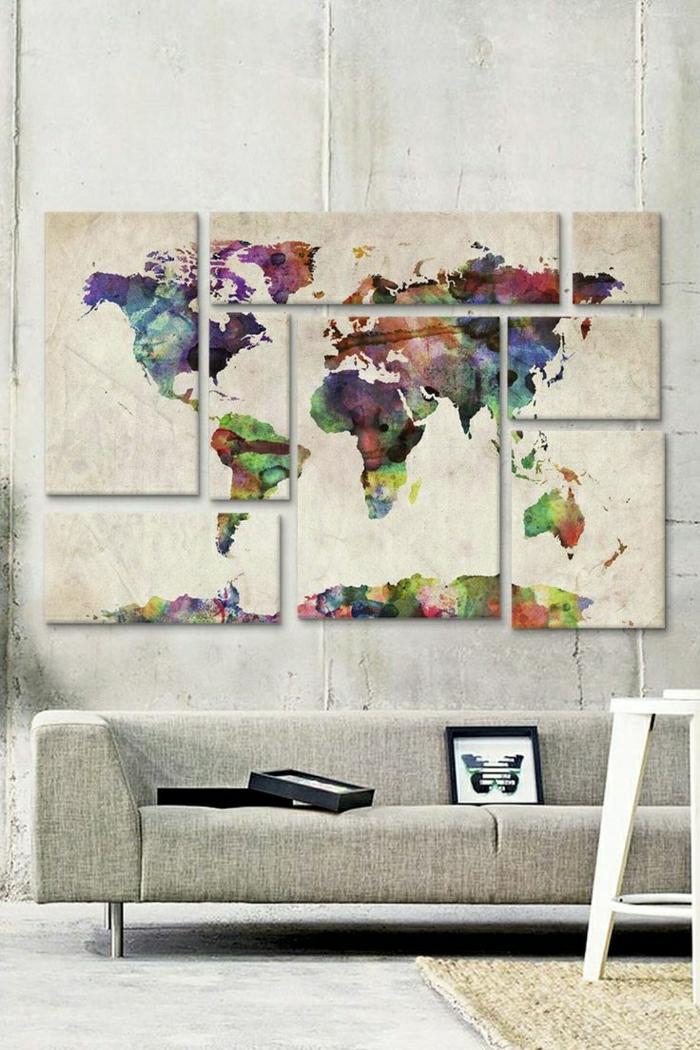 gemütliches-Wohnzimmer-beige-Wanddekoration-Leinwandbild