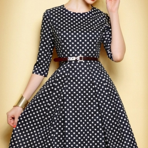 26 süße Beispiele für gepunktetes Kleid!