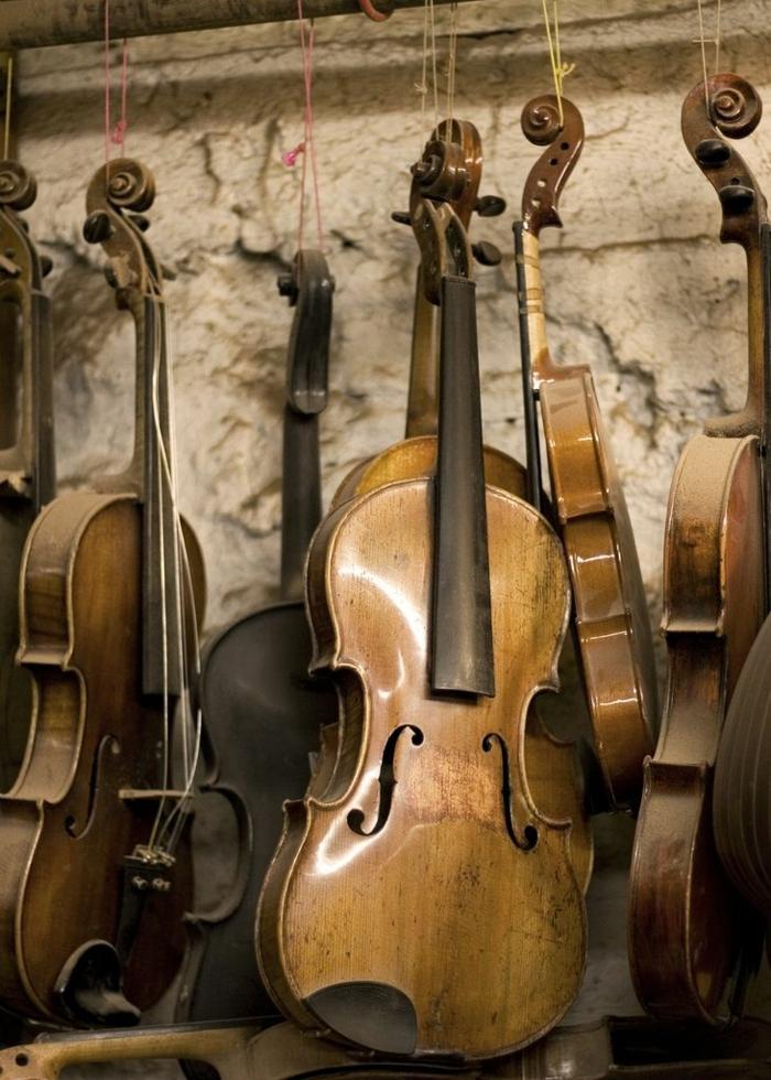 hängende-Violinen-aristokratisch-schön-art