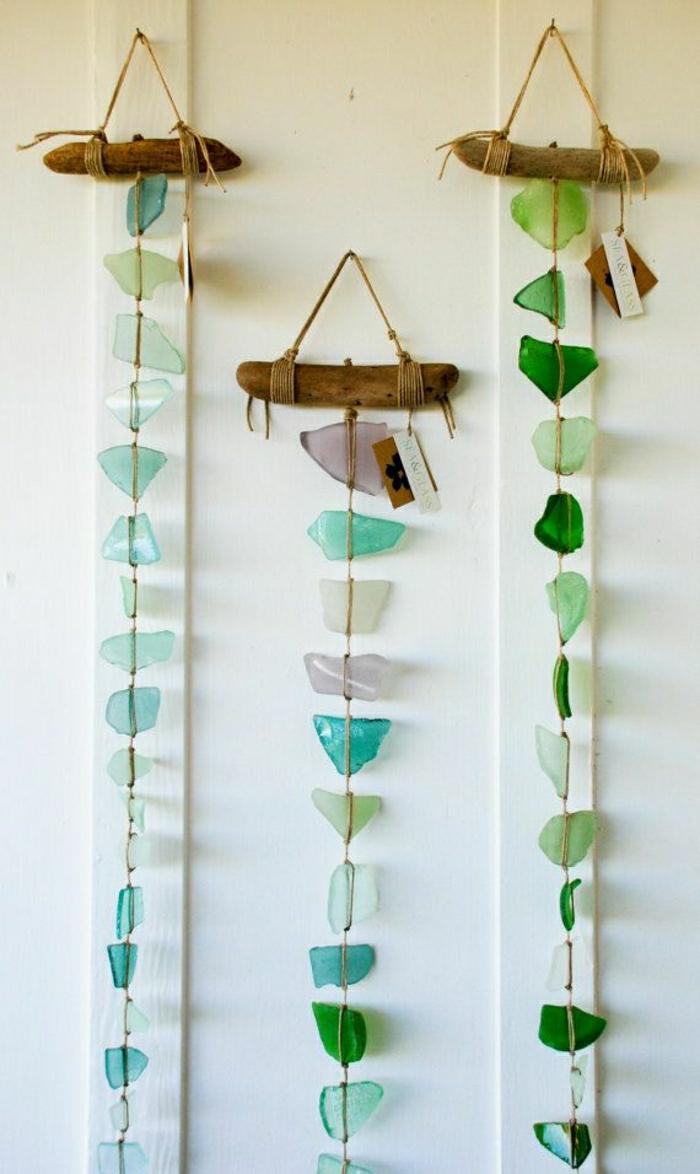 hängende-Wanddekoration-Meer-Glas-türkis-Mobile