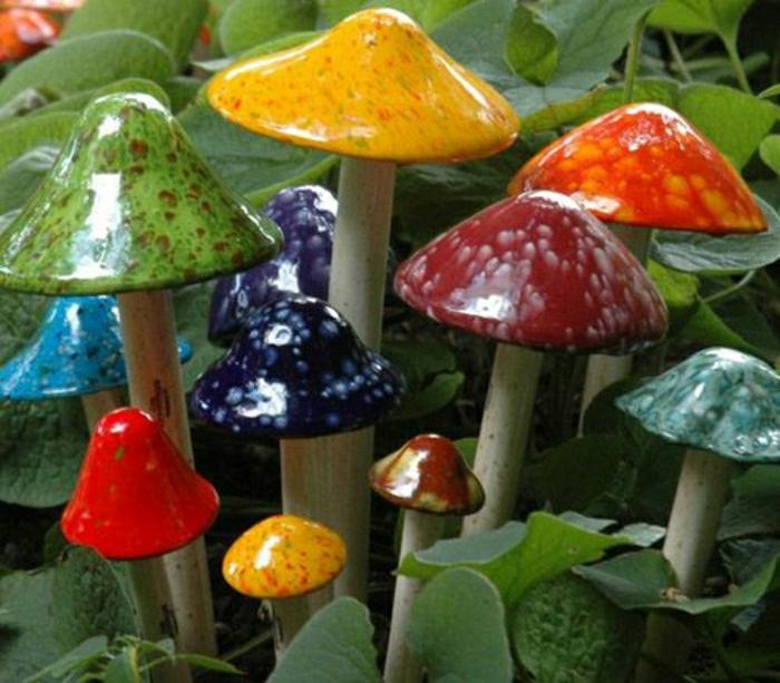 keramische-Pilze-Garten-Dekoration-Hof-Pflanzen