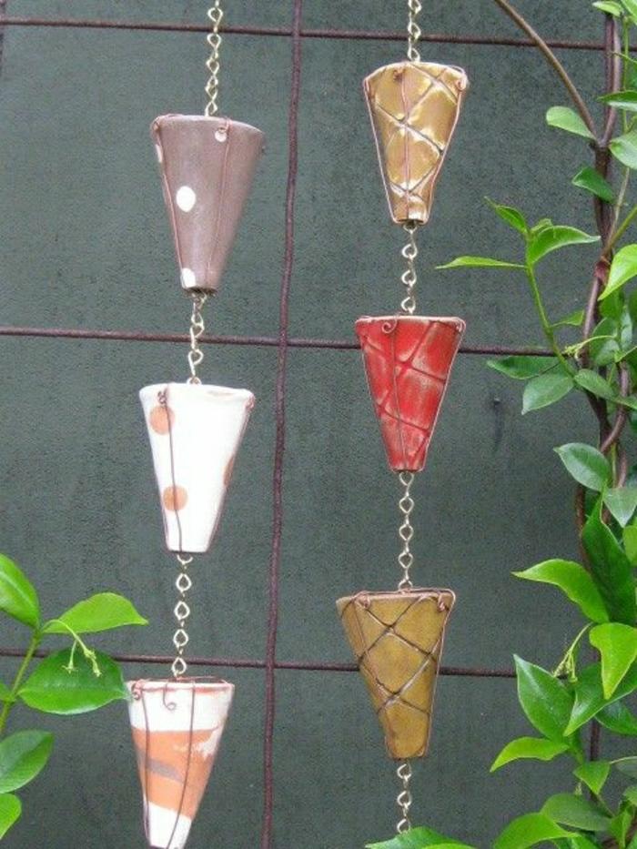 keramische-Regen-Kette-verschiedene-Farben-Dekoration-Garten-Hof