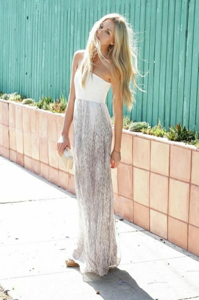 lüftiges-Modell-Sommerkleid-lang